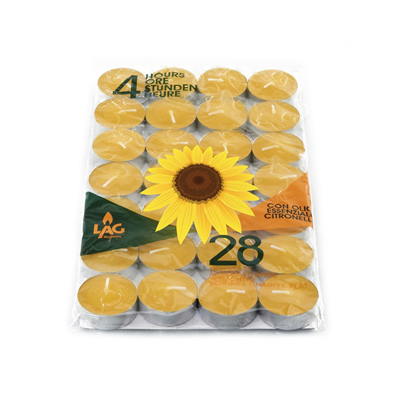 candele alla citronella da interno tealight