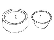 candele e accessori Graziani - citronella da interno