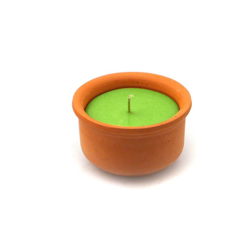 candele alla citronella da interno - eucaliptus in coccio