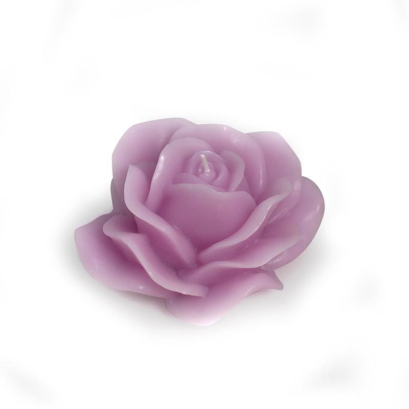 candele fantasy - rosa fiore