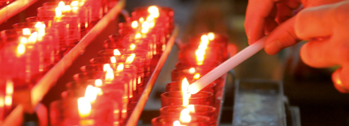 candele per la chiesa