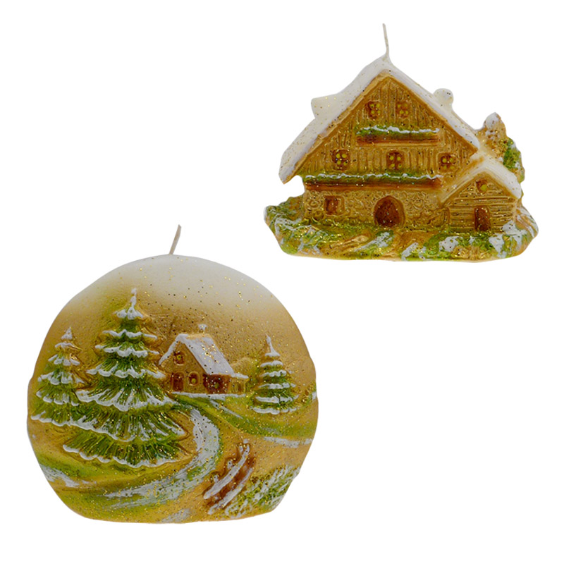 candele natalizie paesaggio natalizio