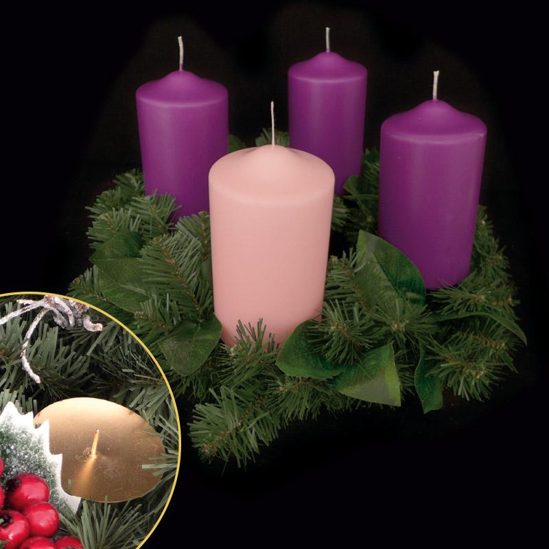 candele e accessori per sacramenti - corona avvento