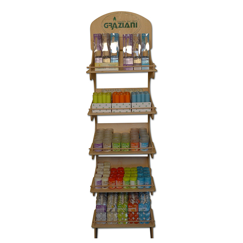 soluzioni per retail - espositore per candele expo legno